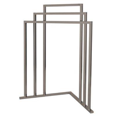 Kingston Brass L Shape 3-Tier Steel Construction Corner Towel Rack