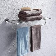 KES Towel Rack, with Towel Bar 23 Inch Polished Bathroom Shelf Wall Mount