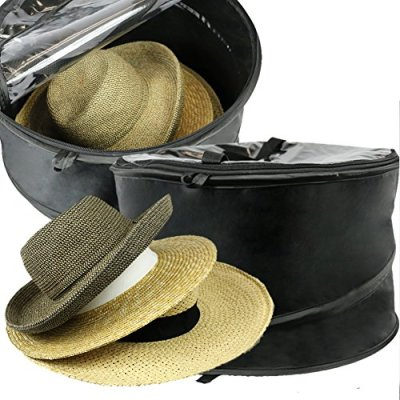 The Elixir Deco Premium Hat Pop up Storage Bag, Large Hat Storage Travel Bag