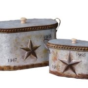 Your Heart's Delight Embossed Star Nested Canisters with Lid Set