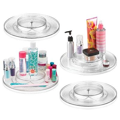mDesign Spinning 2-Tier Lazy Susan Turntable Storage Tray