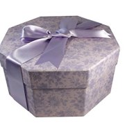 Colorful Hat Box -- Water Roses Lilac