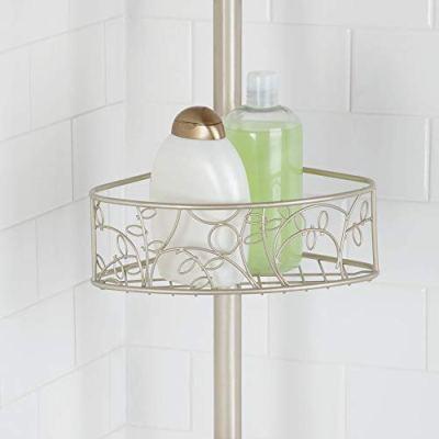 iDesign Twigz Bathroom Shelf Tension Caddy, Three Shelves