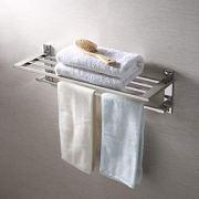 KES 22-Inch Hotel Towel Rack Bathroom Shelf Shower Towel Bar