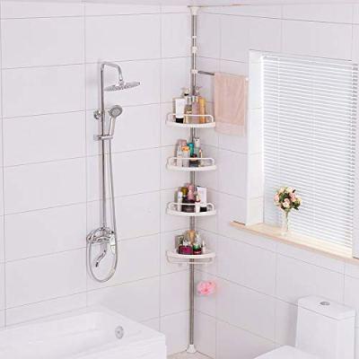 JoYo Tension Corner Shower Caddy, Adjustable Height Pole