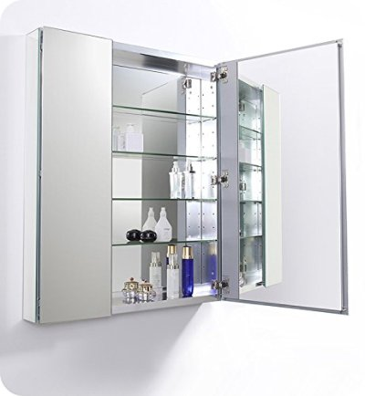 "Fresca 30"" Wide x 36"" Tall Bathroom Medicine Cabinet"