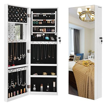 """SONGMICS 5.3"""" D Deepened Jewelry Cabinet Armoire for Bulky Jewelry"""