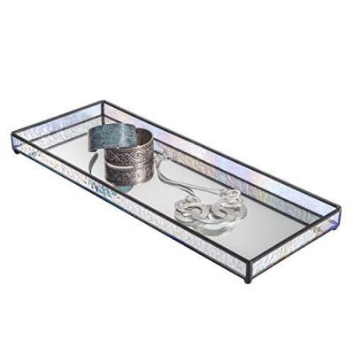 J Devlin TRA Vanity Tray Glass Mirrored Jewelry Display Organizer