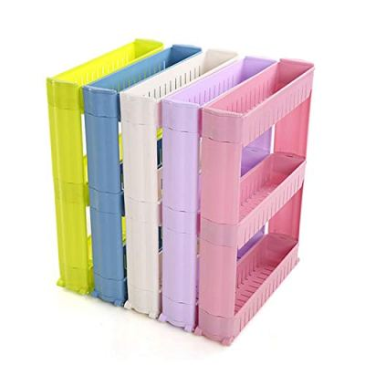 Storage Shelves & Racks - Gap Shelf Skating Movable Plastic Bathroom