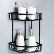 Alise Stainless Steel Bathroom Shower Caddy 2-Tier Corner Basket Storage