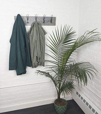 Vintage Rustic Coat Rack -Authentic Barn Wood Hanger Rack for Towels