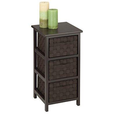 Honey-Can-Do 3-Drawer Natural Wood Frame Storage Organizer Chest