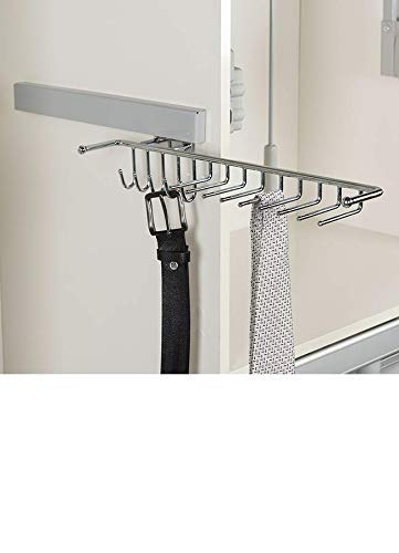 """Starax 18"""" Side Mount Chrome Colored Sliding Belt and tie"""