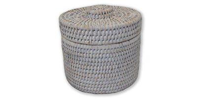 Artifacts Trading Company Rattan Round Single Tissue Roll Box
