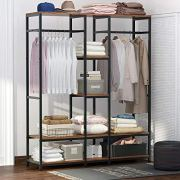 Tribesigns Double Rod Free Standing Closet Organizer