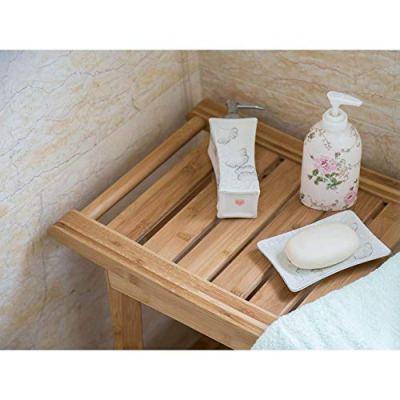 Kinsuite Bamboo Shower Bench Seat Bathroom Waterproof Shower Chair