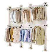 GoldCart Potable Garment Rack, Height 160-320 cm