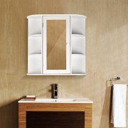 HOMFA Bathroom Wall Cabinet Multipurpose Kitchen Medicine Storage
