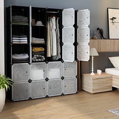 LANGRIA 20 Storage Cube Organizer Wardrobe Modular Closet Plastic Cabinet
