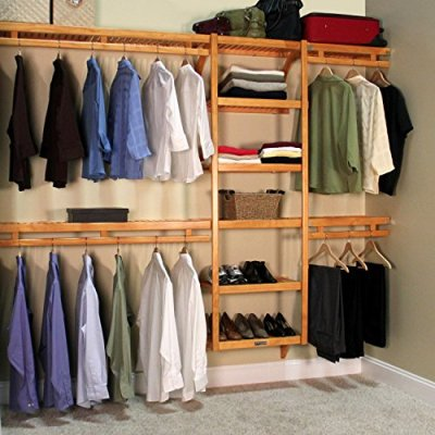John Louis Home Standard 12-Inch Depth Closet Shelving System