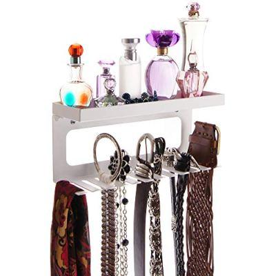 Angelynn's Belt Holder Organizer Hanger Hooks Wall Mount Hanging Closet