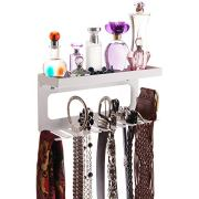 Angelynn's Belt Holder Organizer Hanger Hooks Wall Mount Hanging Closet