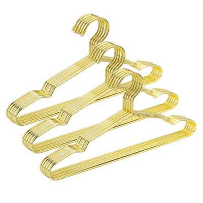 "Jetdio 12.5"" Children Gold Metal Clothes Shirts Hanger with Notches"