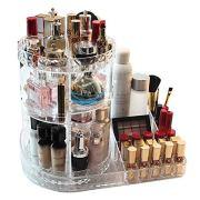 CC MALL Makeup Organizer, 360-Degree Rotating Adjustable