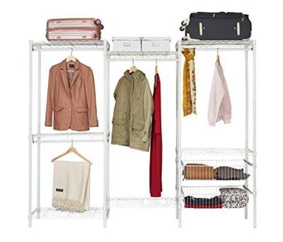 Wire Steel Closet System Organizer White