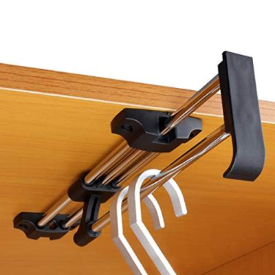 Retractable Clothes Rack,Pull Out Hanger Rail,Closet Rod for Wardrobe