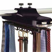 Closet Mounted Rack Holder- Tie Belt Necktie rotates 64 pic Hanger