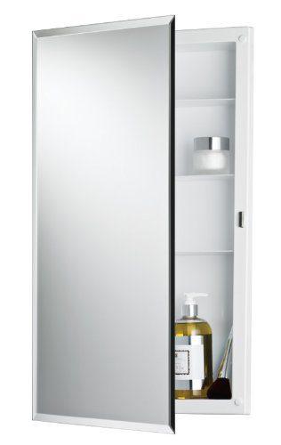 Jensen Builder Series Frameless Medicine Cabinet with Beveled Edge Mirror