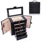 Uptizer Jewelry Box Organizer Functional Huge Lockable