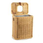 The Basket Lady Drop-in Wicker Rectangular Trash Basket