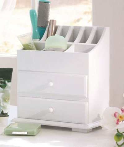 simply simily. Vanity Storage Beauty Organizer with Two Drawers