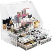 Sorbus Acrylic Cosmetics Makeup Organizer Storage Case Holder Display