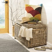 "happimess Elijah 30"" Wicker Storage Trunk"