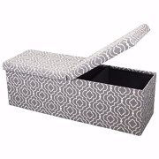 """Otto & Ben 45"""" Storage Folding Toy Box Chest with Smart Lift Top"""