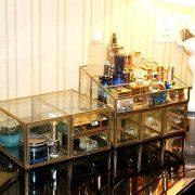 Hersoo Gold Mirrored Vanity Tray,Glass Makeup Display Organizer