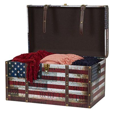 Household Essentials Jumbo Decorative Home Storage Trunk