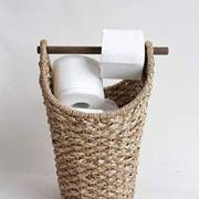 Creative Co-op Bankuan Braided Oval Toilet Paper Basket