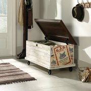 Sauder Eden Rue Rolling Chest, White Plank finish