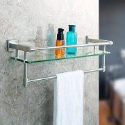 Alise Shower Glass Shelf SUS Stainless Steel Bathroom Shelf