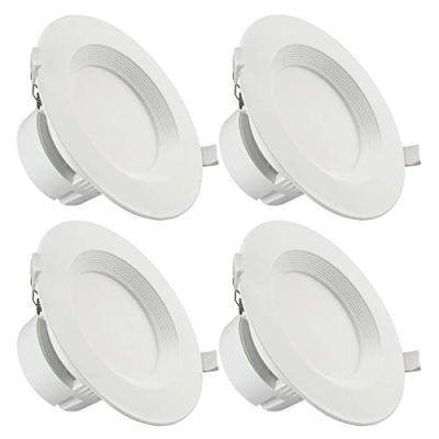 """TORCHSTAR 4 PACK 6"""" LED Recessed Downlight with Junction Box"""
