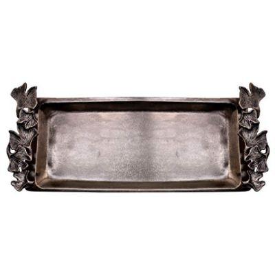 Decozen The Gingko Collection Aluminum Bath Tray in Antique Brass