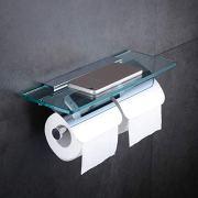 Hiendure Toilet Paper Holder,Double Bathroom Roll Tissue Holders