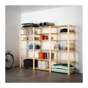 Ikea 3 sections/shelves, softwood