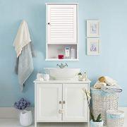 Tangkula Medicine Cabinet, Wall Mounted Bathroom Cabinet
