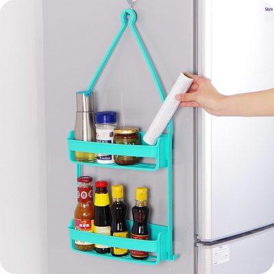 Creative Double layer Wall Mounted Sink Corner Kitchen Storage