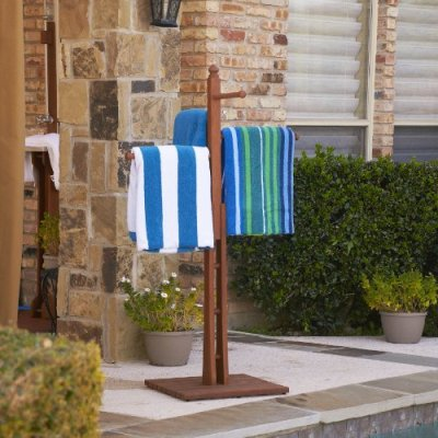"""Mission Towel Rack 54"""" - 4 Rungs for Hanging"""